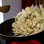 Cabbage sautéed in bacon fat